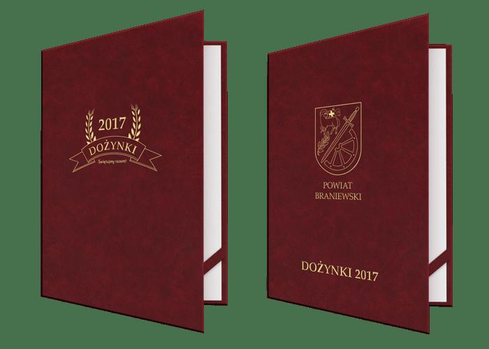 Okładki złocone na dyplomy, świadectwa